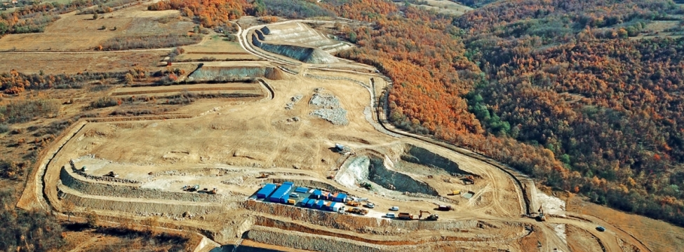 View of the Cukaru Peki project from the air (courtesy SRK Consulting)
